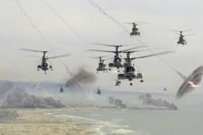 Chopper's flying in LA troops