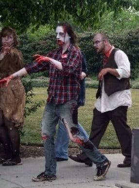 Zombies walking