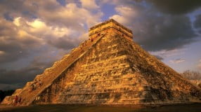 A pyramid built by the Mayan