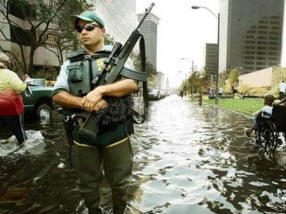 "Police and US Military were issued orders of ""shoot to kill"" as the looting got so bad following Katrina"