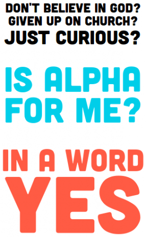 Alpha - its for anyone