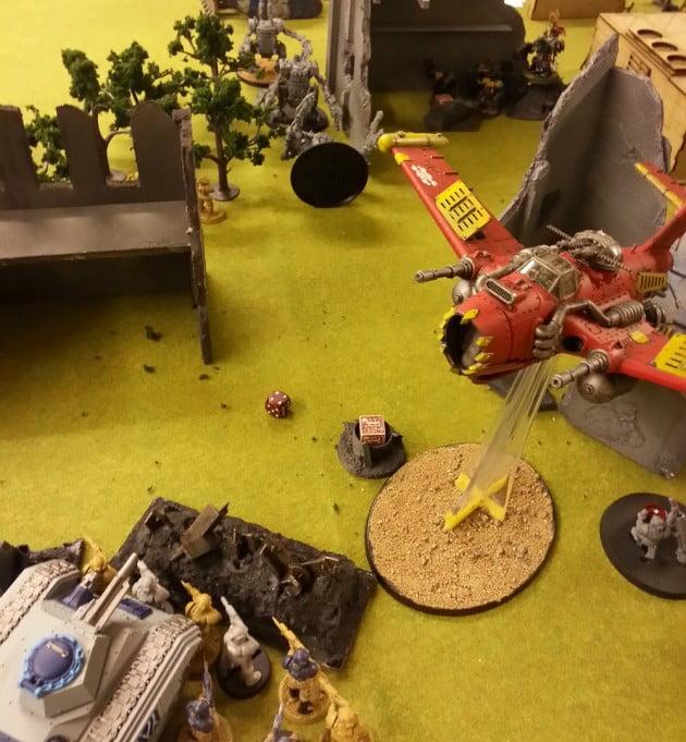 The Blitz Bommer banked sharply