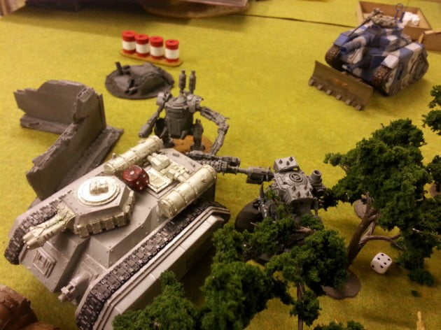 Hellhound being butchered by charging Killa Kans