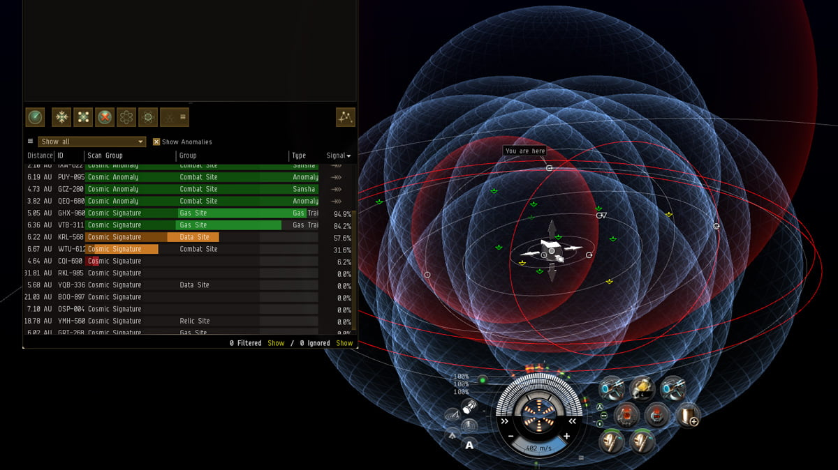 Eve Online: Scanning and Proving Space