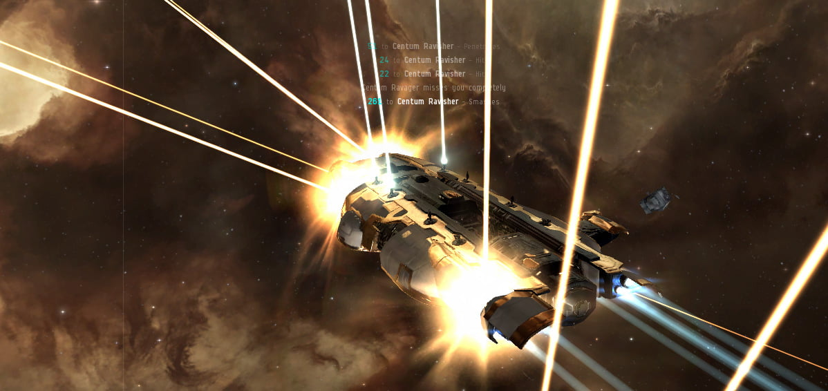 Eve Online: Taking damage!