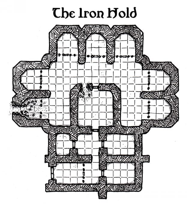 Custom D&D Map: Iron Hold prison
