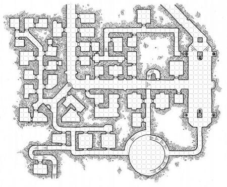 DM Tip: Dyson's beautiful map - lots of unimportant rooms too
