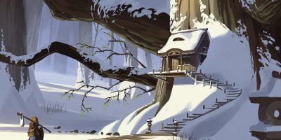 World Building Snow Tree Building