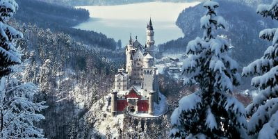 Winter World Building German Castle