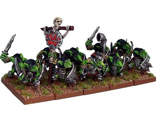 a group of 20 goblins miniatures