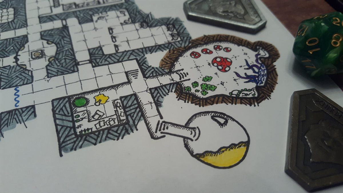 ingredients room and potion room added to our dnd map