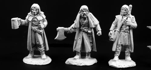 Miniatures DnD Pathfinder Townsfolk of Dreadmere Mercenaries