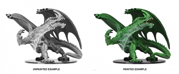 Wizkids Gargantuan Dragon Unpainted Green Dragon Miniature