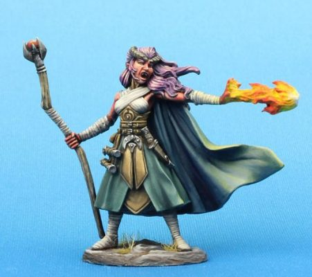 pewter mage miniature