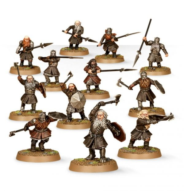 warriors of erebor used in dnd pathfinder miniatures
