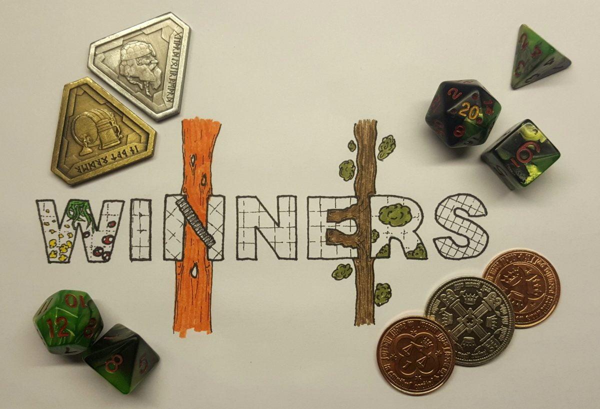 250 Follower Dice Giveaway Winners!