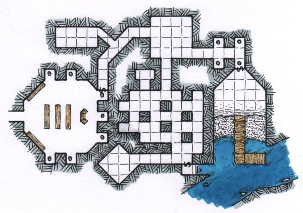 Secret Dock for the City's Father RPG Map DND