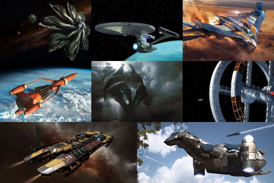 World Building Inspiration – Spaceship Exteriors