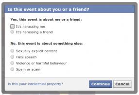 Facebook fail options