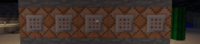 Row of Command Blocks in Minecraft