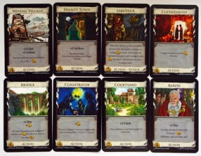 8 different cards from the Intrigue expansion pack
