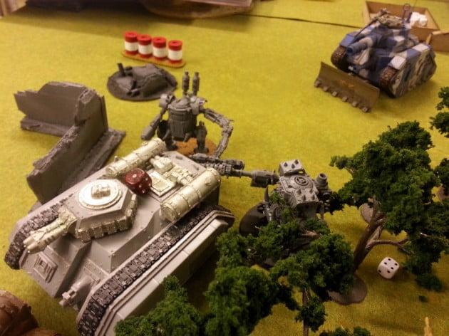 Hellhound being butchered by charging Killa Kans