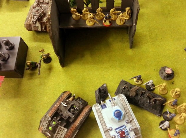Chimera and Manticore at the Mercy of the Ork Power Klaw