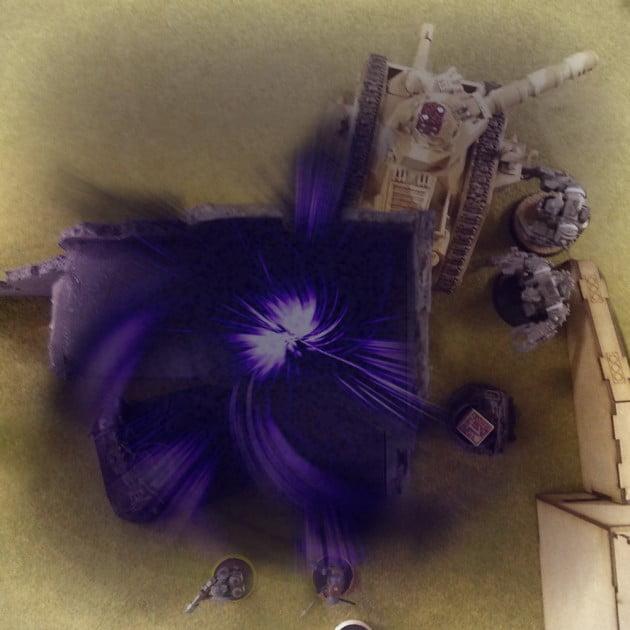 Vortex explosion caused by Ork Shokk Attack Gun