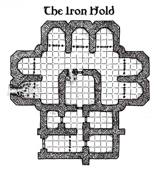 Custom D&D Map: Iron Hold prison