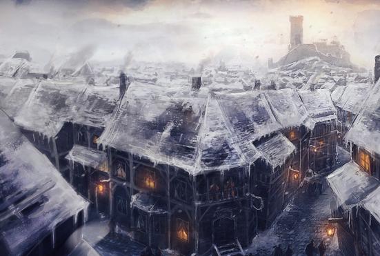 Winter World Building D&D Town