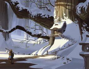 World Building Snow Tree Building