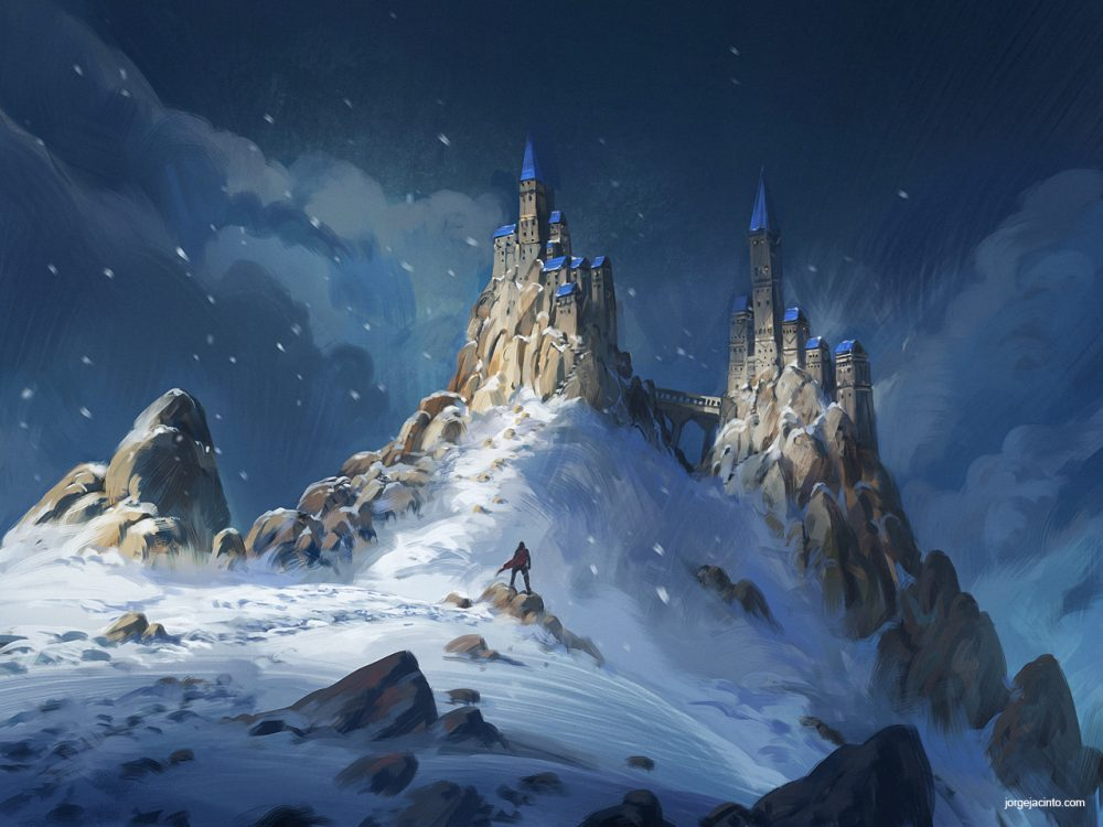 World Building Mountain Castle