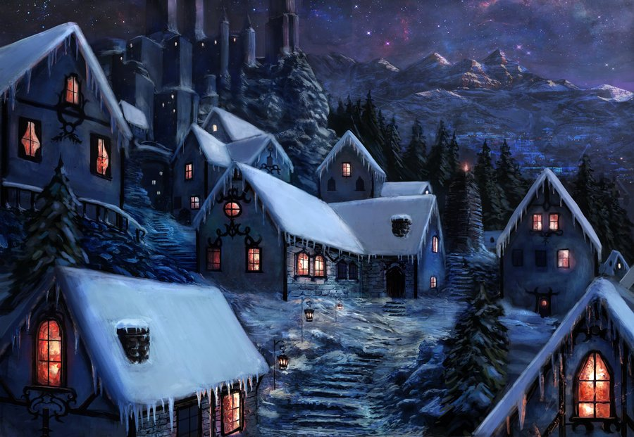 Winter World Building Snow Town