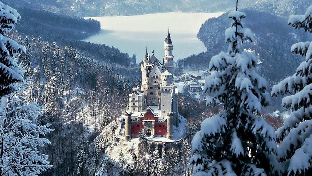 Winter World Building German Castle