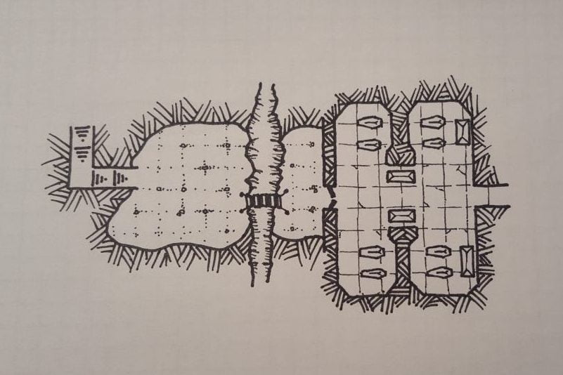 Inktober Day 2 Dungeons and Dragon Map Drawing Day 2