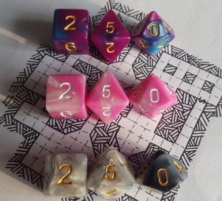 D20 dice set giveaway