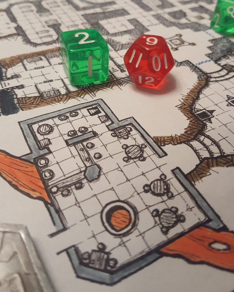 The Dwarven tavern - suspended above a stream of lava