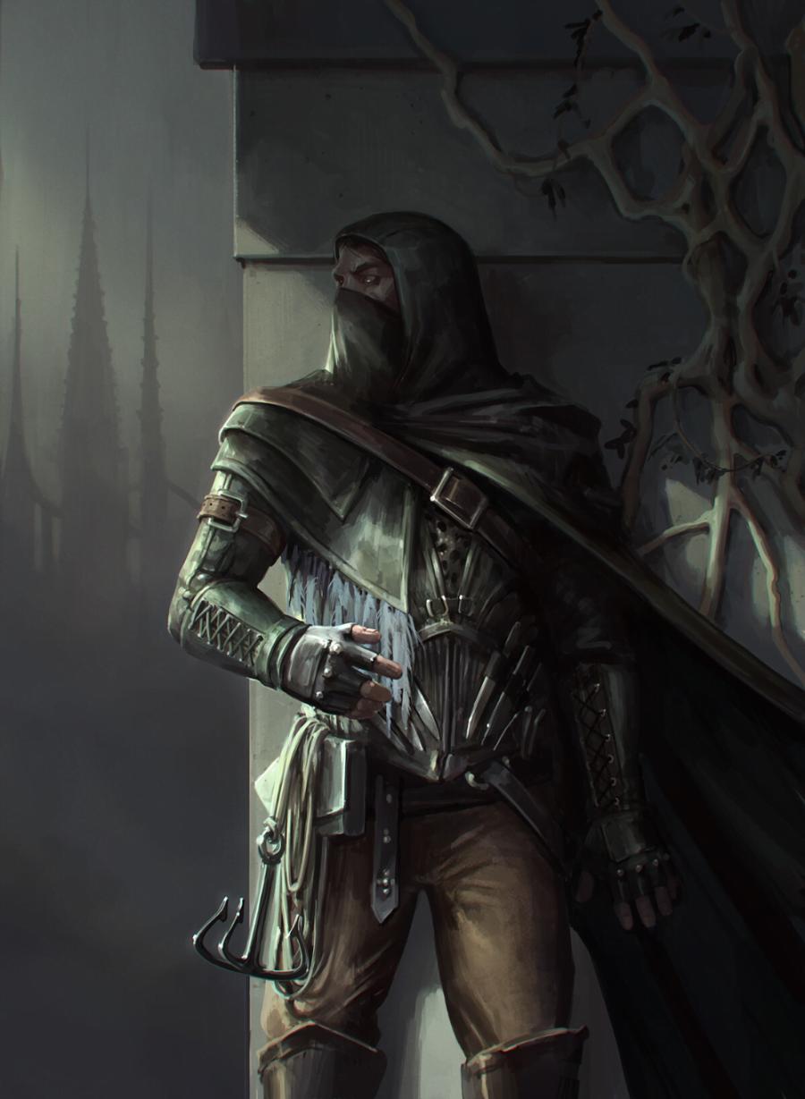 Medieval Thief Character art by Daria Rashev