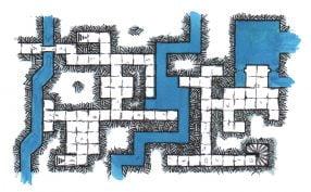 A hand-drawn RPG DnD map of City Aquifers