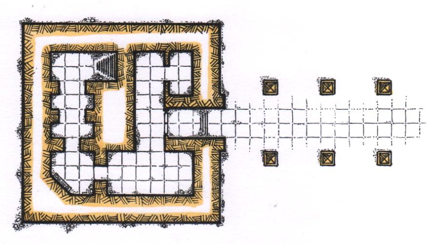 D&D Map: The Desert Temple