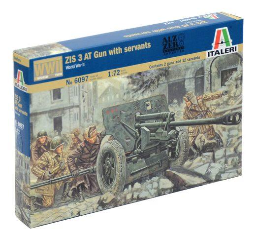 russian zis 3 anti-tank gun soviet italeri miniatures