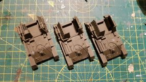 3x PSC chipped SU-76 models