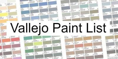 vallejo paint list codes names