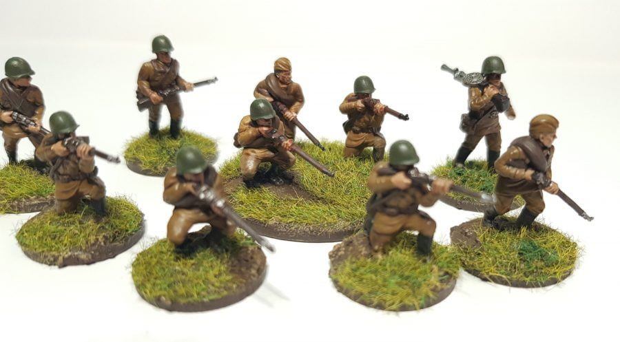 20mm Russian infantry on grass bases