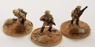 Completed 15mm Brits in Africa