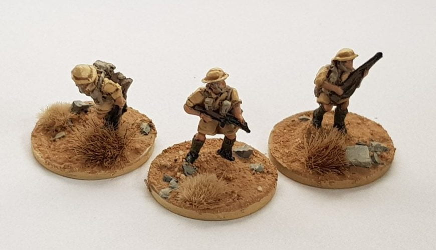 Completed painting 15mm British infantrymen in Africa