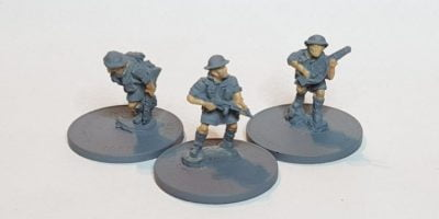 Painting 15mm British infantry begins with the skin