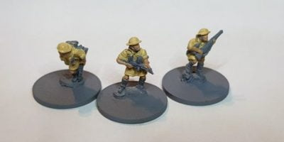 Brits in Africa - painted uniforms
